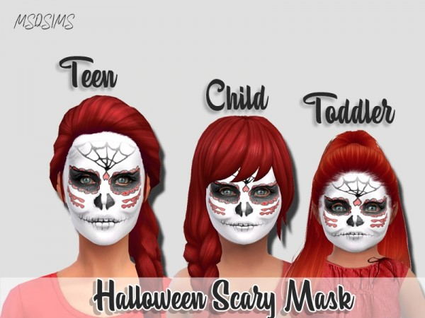 MSQ Sims: Halloween Scary Mask
