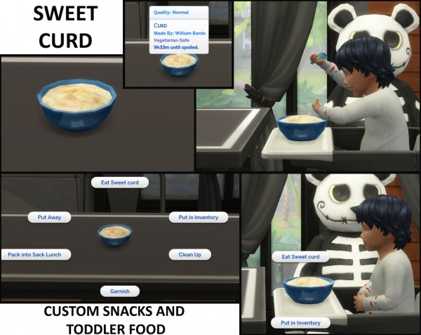 Mod The Sims 4 Custom Toddler Food And Snacks By