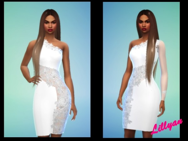 The Sims Resource: Dresses white by LYLLYAN