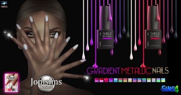 Jom Sims Creations: Gradient metallic nails