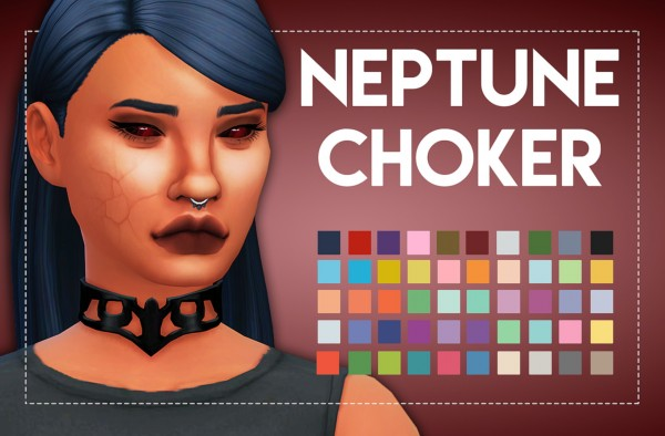 Simsworkshop: Neptune Choker 2.0 by  Weepingsimmer