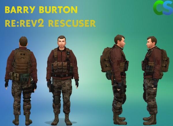 Simsworkshop: Resident evil  Barry Burton Rescuer Clothes by cepzid