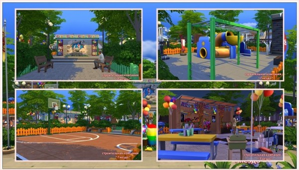 Sims 3 by Mulena: Park Sports field