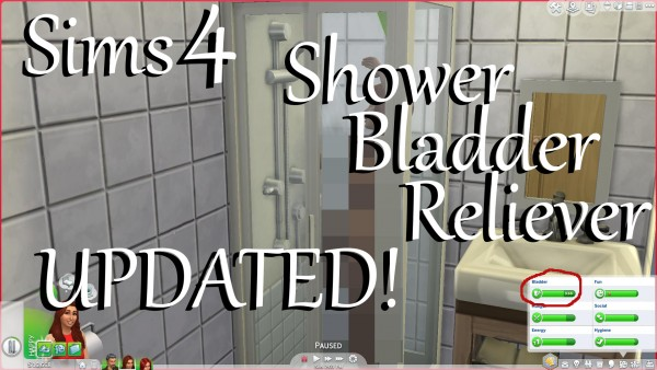Mod The Sims: Shower Bladder by PolarBearSims