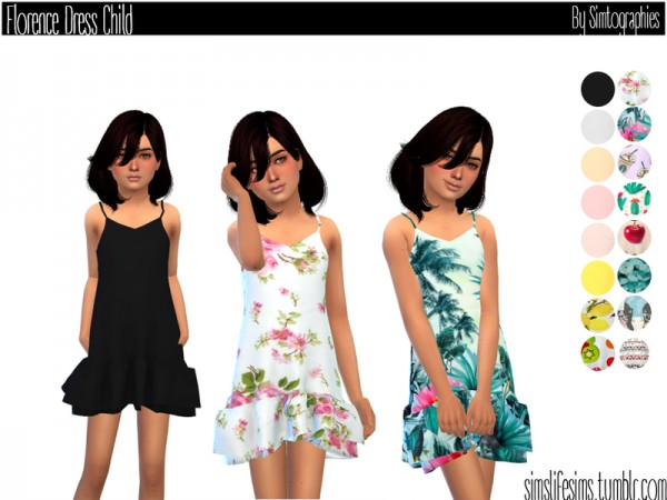 The Sims Resource: Florence Dress for Child by simtographies