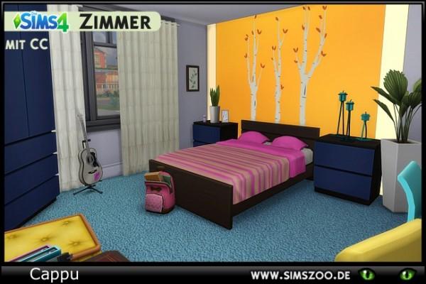 Blackys Sims 4 Zoo: Miranda Teen Room by Cappu