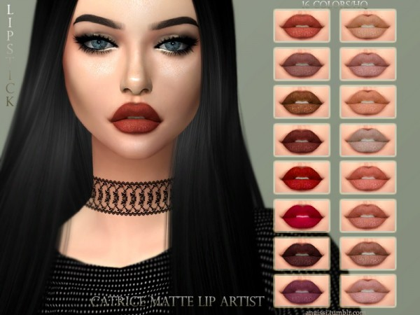 The Sims Resource: Catrice Matte Lip artist by ANGISSI