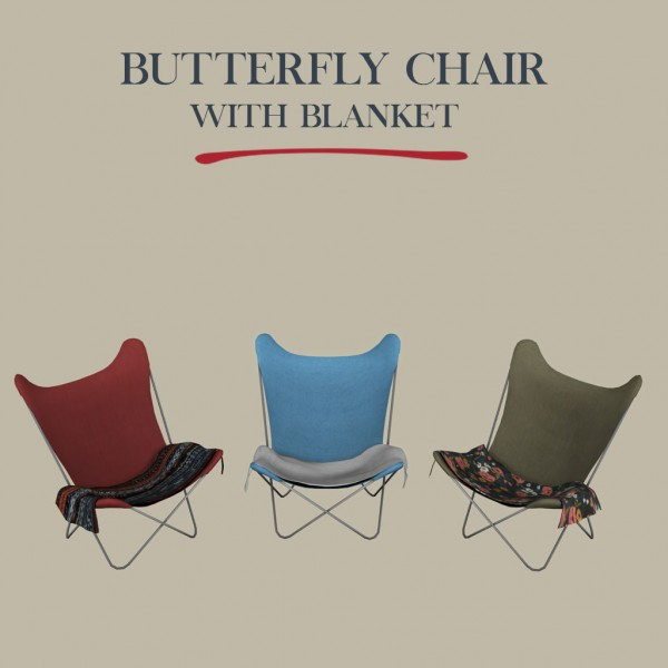 Leo 4 Sims: Butterfly Chair With Blanket