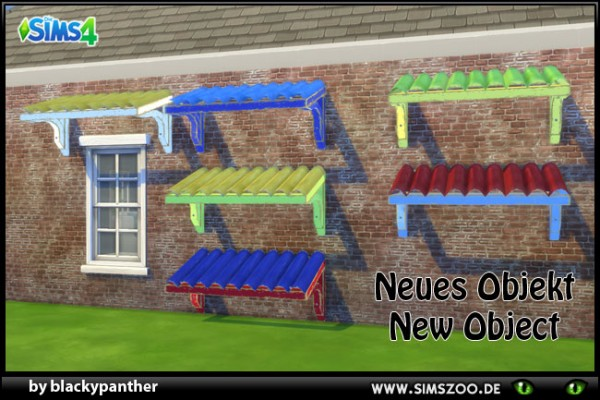 Blackys Sims 4 Zoo: Old window canopy by blackypanther