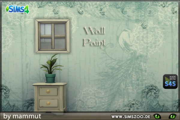 Blackys Sims 4 Zoo: Wall vintage 1 by mammut