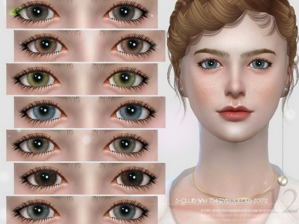 The Sims Resource: Eyecolors 201712 by S club