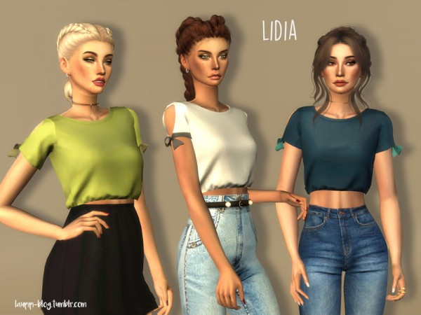 The Sims Resource: Lidia t shirt by Laupipi