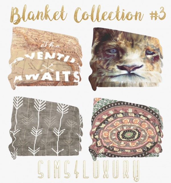 Sims4Luxury: Blanket Collection 3
