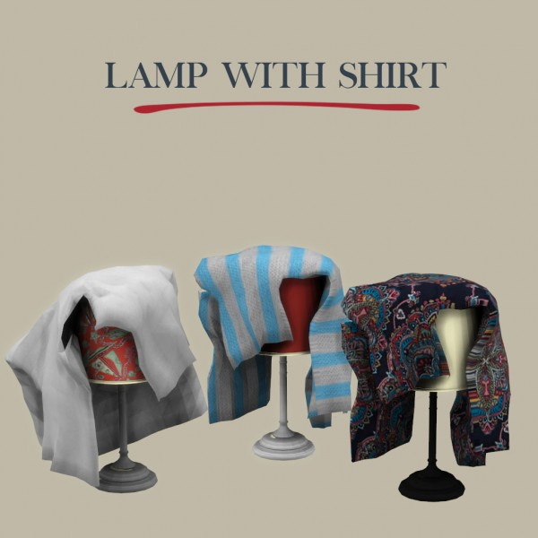 Leo 4 Sims: Lamp With Shirt