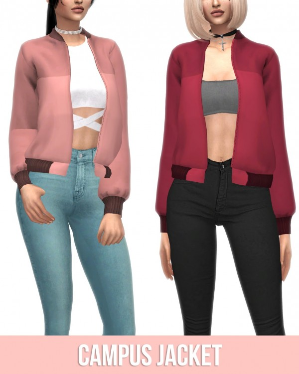 Kenzar Sims: Campus Jacket Recolor