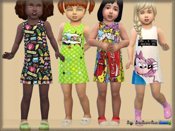 The Sims Resource: Dress Pop Art by bukovka