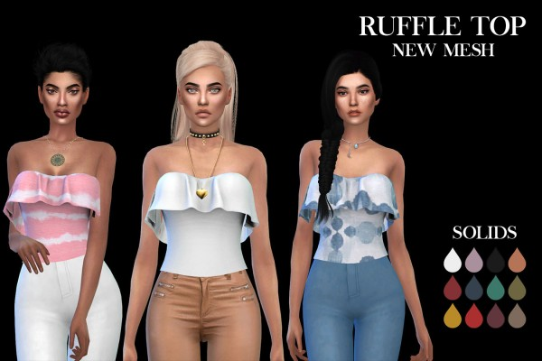 Leo 4 Sims: Ruffle Top recolored