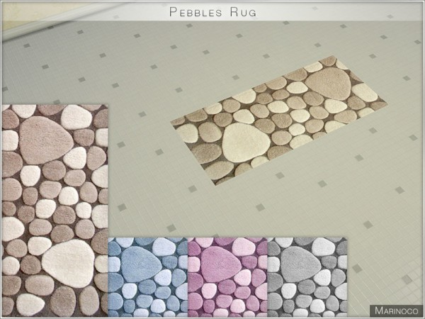 The Sims Resource: Pebbles Rug by Marinoco