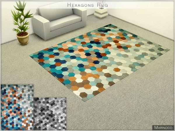 The Sims Resource: Hexagons Rug by Marinoco