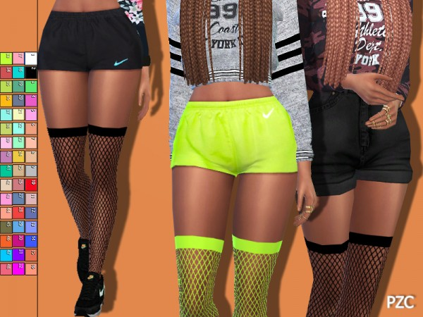 The Sims Resource: Sporty Fishnet Tights by Pinkzombiecupcakes