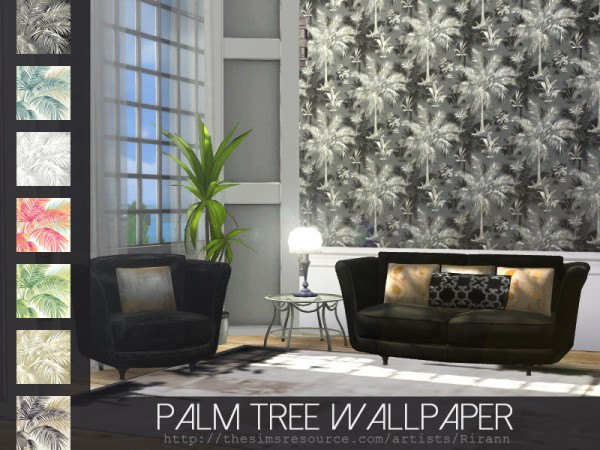 The Sims Resource: Palm Tree Wallpaper by Rirann