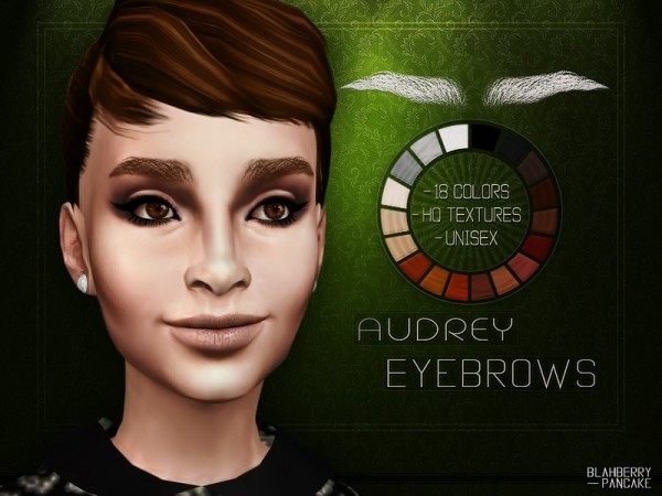The Sims Resource: Audrey Hepburn Eyebrows by Blahberry Pancake