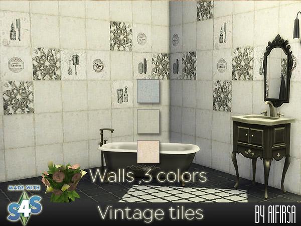 Aifirsa Sims: Vintage tiles