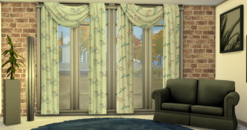 "Chillis Sims: Recolor Curtain ""FliBo"""