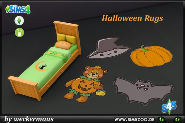 Blackys Sims 4 Zoo: Halloween Rugs by weckermaus