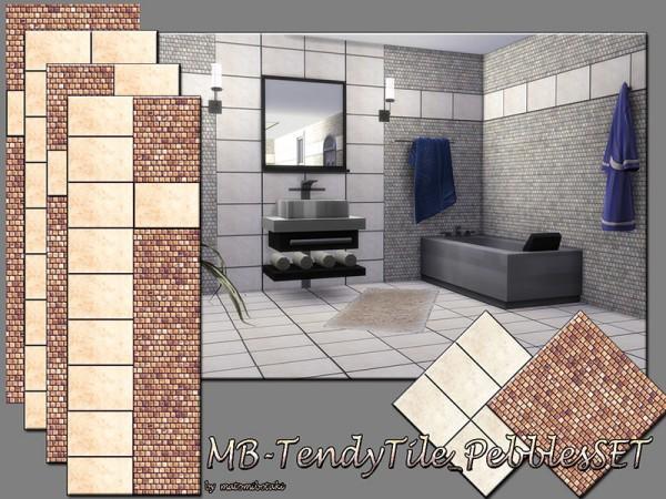 The Sims Resource: Trendy Tile Pebble set by matomibotaki