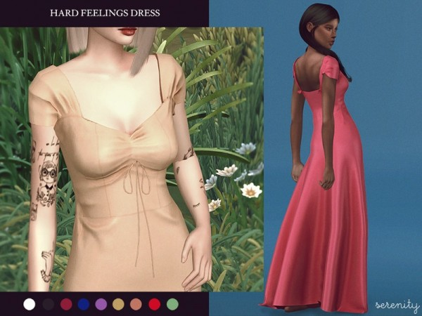 The Sims Resource: Hard Feelings Dress by serenity cc