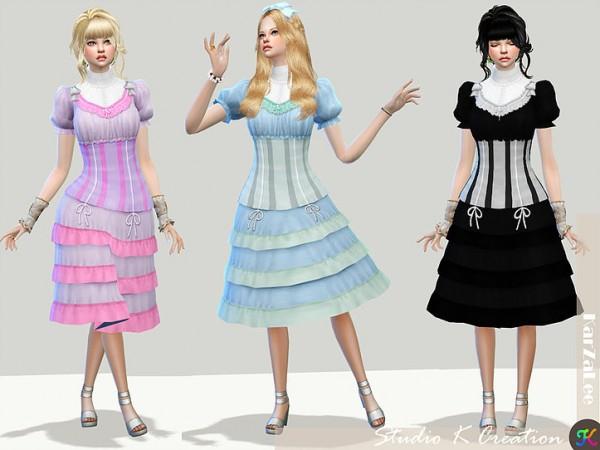 Studio K Creation Layered Victorian Dress Sims 4 Downloads