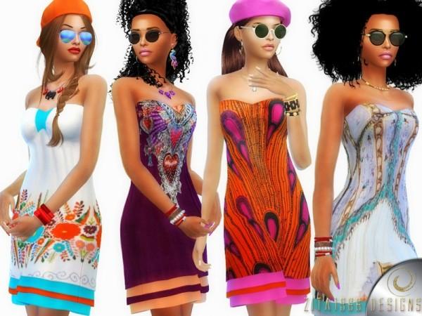 The Sims Resource: Bohemian Fusion Dress by ZitaRossouw