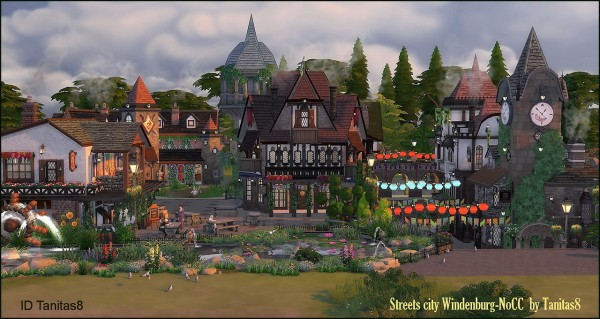 Tanitas Sims: Streets city Windenburg   NoCC