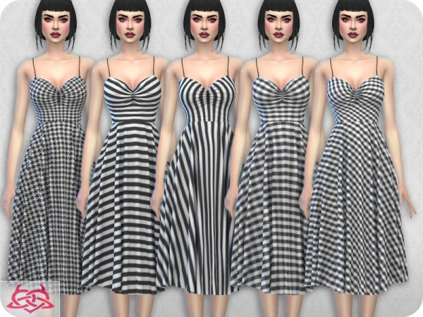 The Sims Resource: Claudia dress 7 by Colores Urbanos