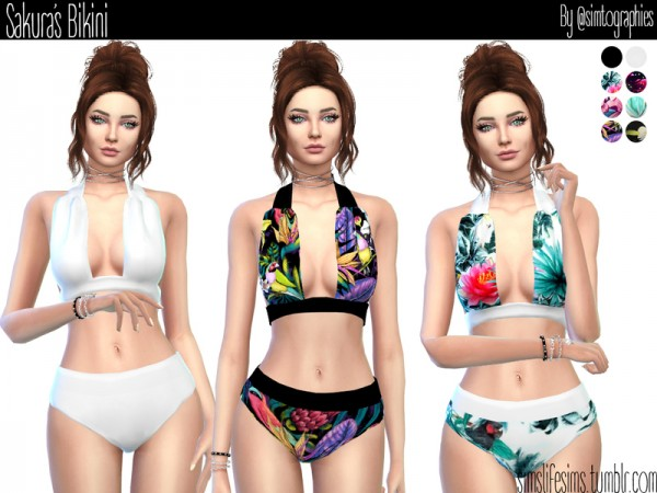 The Sims Resource: Sakuras swimsuit by simtographies