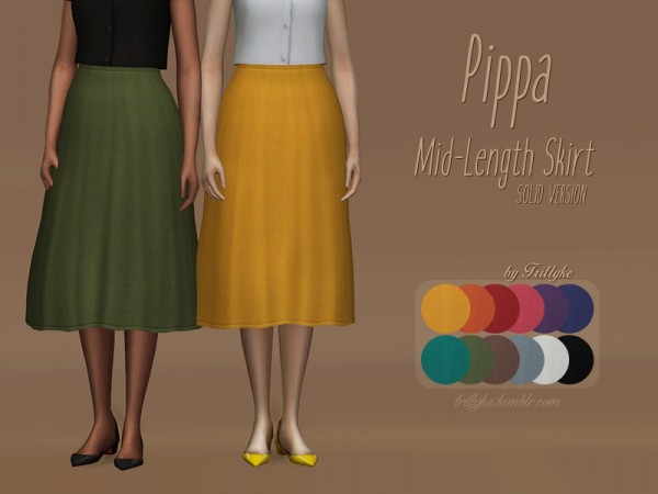 Trillyke: Pippa Mid Lenght Skirt