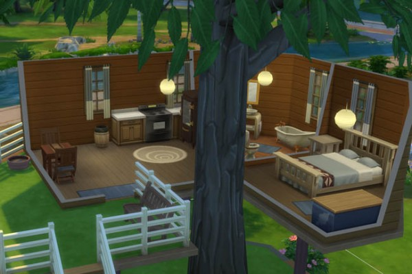 Blackys Sims 4 Zoo: Tree house Starter by mammut