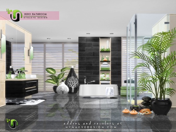 The Sims Resource: Xero Bathroom by NynaeveDesign