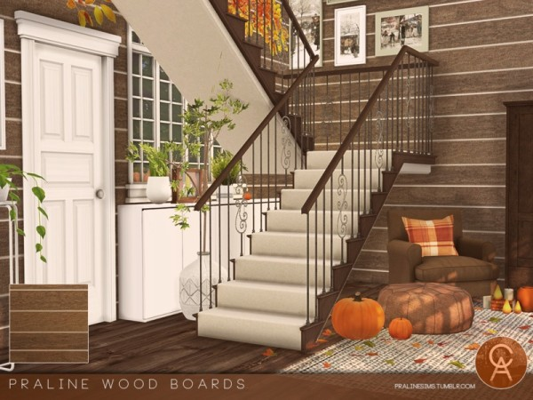 The Sims Resource: Wood Boards by Pralinesims