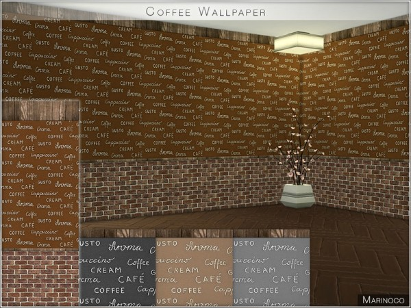 The Sims Resource: Coffee Wallpaper by Marinoco