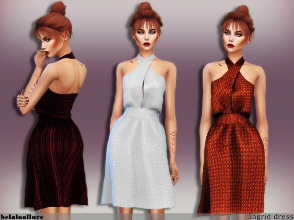 The Sims Resource: Ingrid dress by belal1997