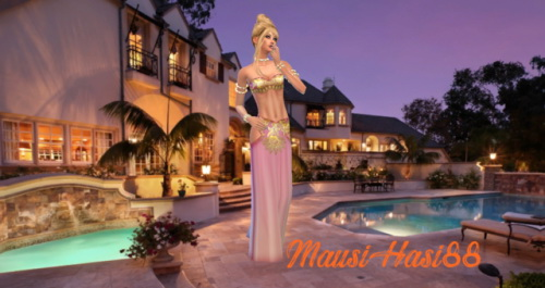 The Sims Resource: CAS Background Luxury House • Sims 4 ...