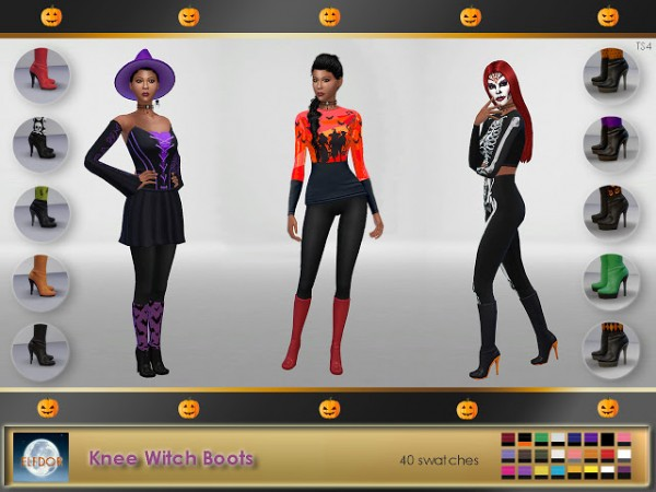 Elfdor: Knee Witch Boots recolored