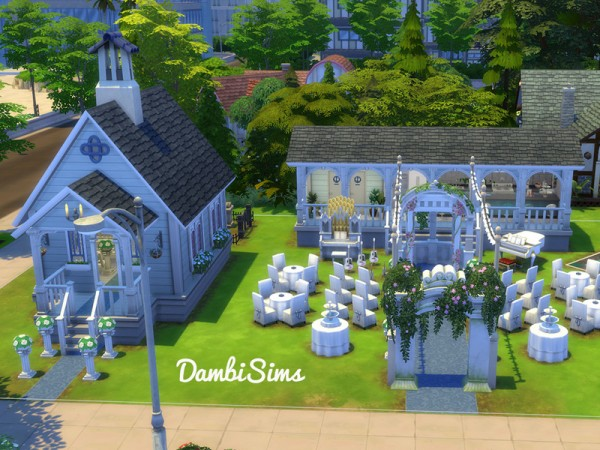 The Sims Resource: Wedding Chapel by dambisims