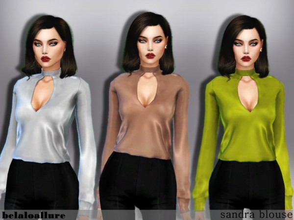 The Sims Resource: Sandra blouse by belal1997