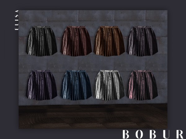 The Sims Resource: Leather skirt elisa by Bobur3