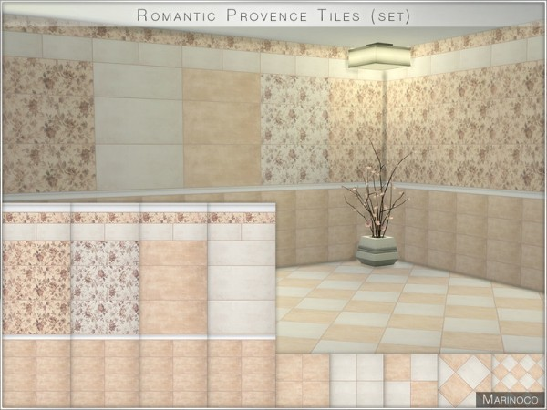 The Sims Resource: Romantic Provence Tiles by Marinoco