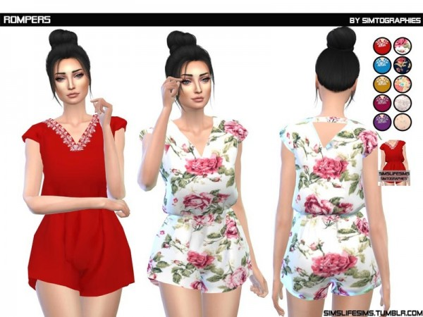 The Sims Resource: Rompers by simtographies