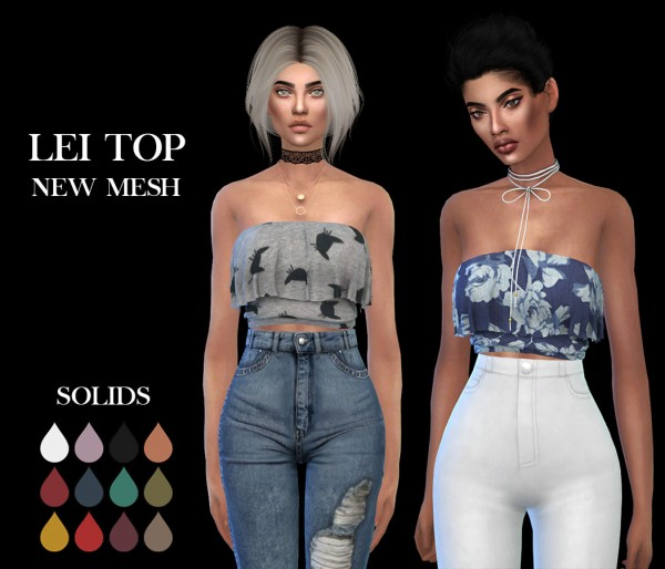 Leo 4 Sims: Lei top recolored